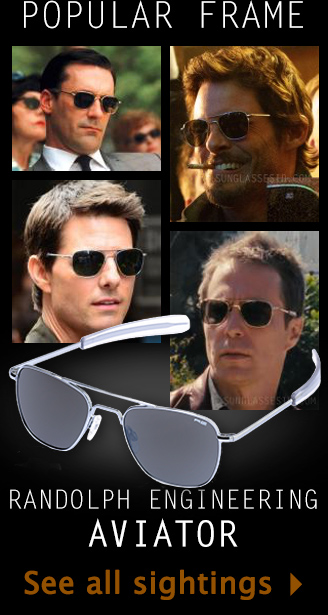 RE Aviator sunglasses in movies and series