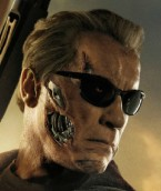 On a new poster for Terminator Genisys, Arnold Schwarzenegger wears a yet unidentified pair of black sunglasses