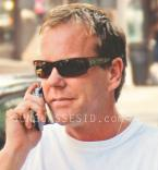 Kiefer Sutherland wearing tortoise Blinde The Mac Steed sunglasses