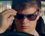 Ansel Elgort wears Blue Stars American USA Flag Wayfarer Sunglasses in Baby Driver.