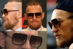 Conor McGregor wearing Dita Mach-One sunglasses at press conferences.