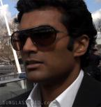 Actor Sendhil Ramamurthy wears a pair of Lacoste LA12431 sunglasses in the movie It's a Wonderful Afterlife