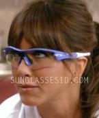 In the movie Horrible Bosses, Jennifer Aniston wears a pair of Oakley Radar Path glasses