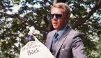 Steve McQueen wearing Persol 0714 - Havana frame with blue lenses - in The Thomas Crown Affair