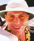Johnny Depp wearing Ray-Ban 3138 Shooter sunglasses in Fear and Loathing in Las