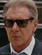 Harrison Ford wears tortoise Ray-Ban 2140 Wayfarer sunglasses in Morning Glory