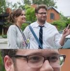 Seth Rogen wears Ray-Ban RX5228 eyeglasses in Neighbors.