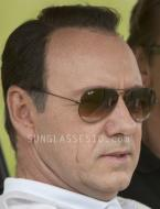 Kevin Spacey (as Jack Abramoff) wears Ray-Ban Aviator sunglasses in the movie Ca