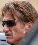 Sean Penn wears sunglasses that look like TAG Heuer Reflex