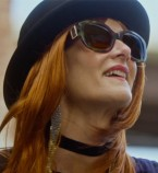 Laura Dern wears Burberry BE 4248 3638/8H The Buckle Collection sunglasses in the 2019 film JT Leroy.