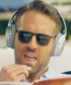 Ryan Reynolds wears Garrett Leight sunglasses in Hitman's Wife's Bodyguard (2021), probably the Brooks model.