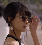Shiori Kutsuna wears Persol PO3198S Tailoring Edition sunglasses in the 2019 film Murder Mystery.