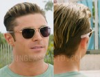 Zac Efron wears Randolph Engineering Aviator sunglasses in Baywatch