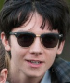 Actor Asa Butterfield wears Ray-Ban 3016 Clubmaster sunglasses in The Space Between Us.