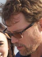 Greg Kinnear wears Ray-Ban RX5288 eyeglasses with sunglass lenses in Stuck In Love