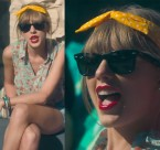 Taylor Swift wears a pair Ray-Ban 2140 Wayfarer in the 22 music video.
