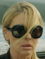 In A Dark Truth, Deborah Kara Unger wears black Tom Ford Bianca sunglasses.