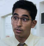 Dev Patel wearing eyeglasses in Chappie