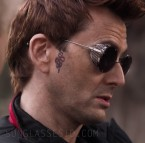 David Tennant wears Valentino VA2003 sunglasses in Good Omens.
