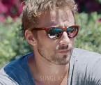 Matthias Schoenaerts wears Vuarnet Legend 06 sunglasses in the 2015 film A Bigger Splash.