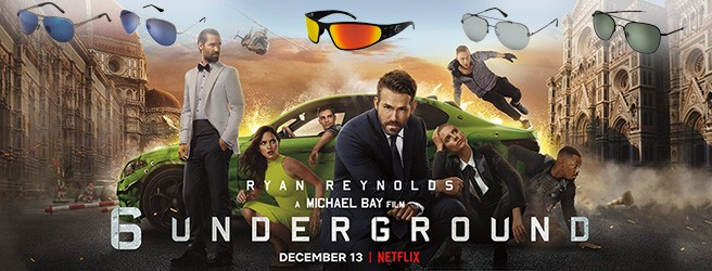 Sunglasses in 6 Underground Ryan Reynolds