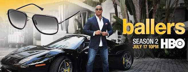 Dita Avocet-Two sunglasses worn by Dwayne Johnson in Ballers Season 2