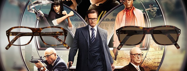 Cutler and Gross glasses in Kingsman The Secret Service