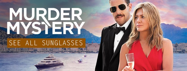 Sunglasses in Murder Mystery Netflix Jennifer Aniston Adam Sandler