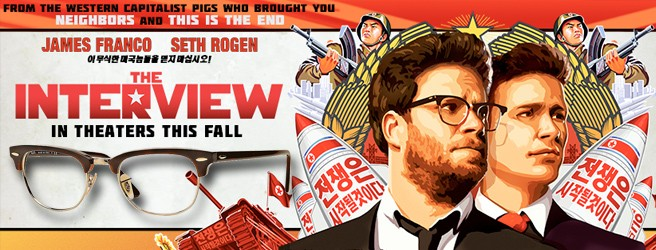 Seth Rogen wears Ray-Ban Clubmaster eyeglasses in The Interview