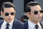 Rami Malek wears Randolph Engineering Aviator sunglasses on the set of The Little Things in November 2019..