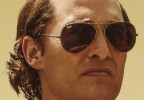 Matthew McConaughey wears Ray-Ban 3025 Aviator sunglasses throughout the movie Gold and on the movie poster as seen here.