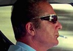 In the opening scene in The Italian Job (1969), the driver of the Lamborghini Miura, played by Rossano Brazzi, wears Renauld Mustang sunglasses.