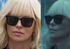 Charlize Theron black sunglasses in Atomic Blonde.