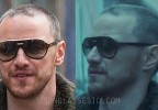 James McAvoy wears black and gold Tom Ford Dimitry 0334S sunglasses in Atomic Blonde.
