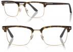 Tom Ford Half Rim Optical FT5504, 052 Dark Havana and Gold
