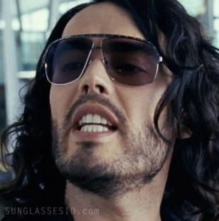 Russell Brand with his Alexander McQueen 4099 sunglasses in the movie Get Him To