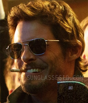 James Marsden wears American Optical Original Pilot sunglasses in the movie The D Train.
