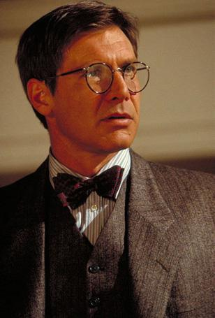 Harrison Ford wearing Savile Row Beaufort Panto glasses in Indiana Jones