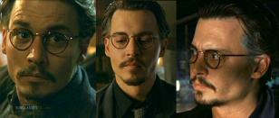 Johnny Depp wearing the same glasses in the movie The Ninth Gate