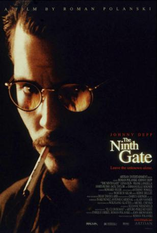 Johnny Depp wearing Savile Row Beaufort Panto glasses in the movie The Ninth Gate
