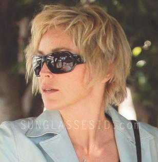 Sharon Stone wearing Blinde Talk To Me sunglasses
