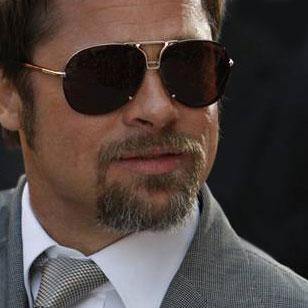Brad Pitt wearing Tom Ford Pablo at the premiere of Inglorious Bastards