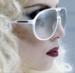 Lady Gaga wears Carrera Champion in the music video Bad Romance