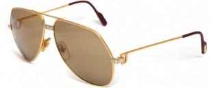 Cartier Vendome Santos gold sunglasses