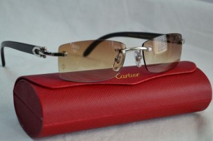 Cartier C Décor Rimless sunglasses with brown gradient lenses