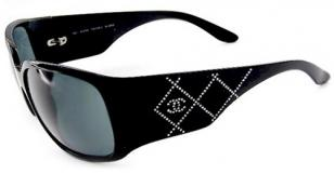 Chanel 5080 sunglasses, with the Chanel quilt pattern in chrystals