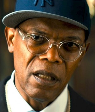 Samuel L. Jackson wears Cutler and Gross 0857 eyeglasses in Kingsman: The Secret Service.