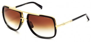 Dita Mach-One, black gold, brown lens