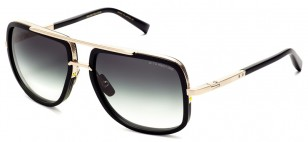 Dita Mach-One, Matte Black / Antique Gold sunglasses with gradient lens