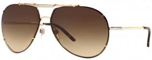 Dolce & Gabbana DG2075 034 Gold frame, Brown Gradient lens